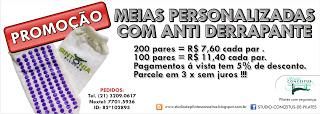 PROMOÇÃO MEIAS C/ANTI DERRAPANTE PERSONALIZADAS