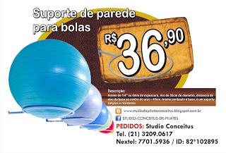 SUPORTE  DE PAREDE PARA BOLAS DE PILATES